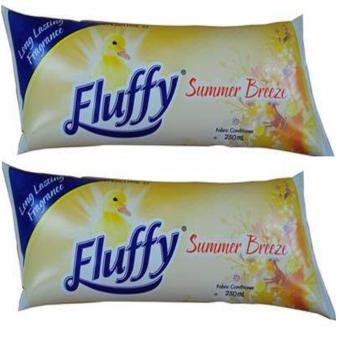 Bộ 2 túi xả vải siêu đậm đặc Fluffy hương mùa hè -250ml x 2 - Úc