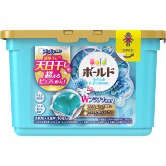 Hộp 18 viên nước giặt xả Gel Ball hương hoa -sản xuất tại Nhật Bản.