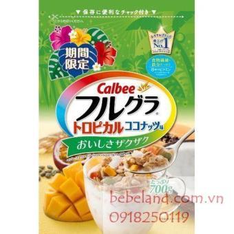 Ngũ cốc Calbee ( xoài, chanh dây, dừa, đu đủ, hạt bí)
