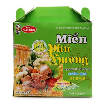 Miến Phú Hương Ăn Liền Vị Sườn Heo 58g x 12 Gói
