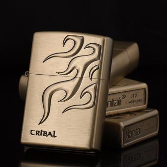 Bật lửa xăng Cribal Tatoo 1 (Vàng đồng)
