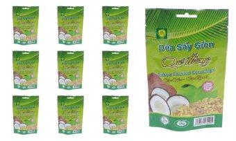 Bộ 10 gói Dừa sấy giòn Quê hương 28g