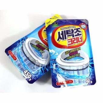 Bộ 2 gói bột tẩy vệ sinh lồng máy giặt 450g cao cấp