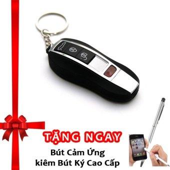Bật lửa hồng ngoại kiêm móc khóa xe hơi kèm cáp sạc F525 (đen) + Tặng bút ký kiêm bút cảm ứng cho smartphone và tablet