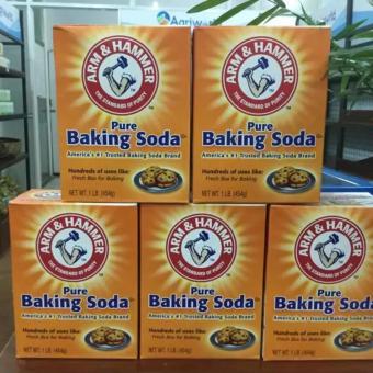 Bộ 5 hộp bột nở Baking Soda đa công dụng Arm & Hammer 454gx5