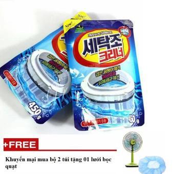 Bộ 2 túi vệ sinh lồng giặt Sandokkaebi Hàn Quốc + tặng 01 lưới bọc quạt- K Store
