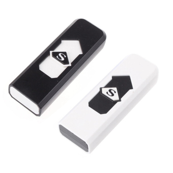 Bộ 2 Bật Lửa Không Dùng Gas Hình USB USA Store (Đen Trắng)