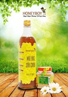 Bộ Mật ong sữa chúa 500ml và Phấn hoa thiên nhiên 100g