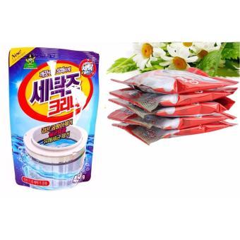 Bộ Bột Thông Tắc Bồn Cầu Siêu Mạnh + Túi Bột Tẩy Cặn, Bẩn Lồng Máy Giặt Hàn Quốc 450g