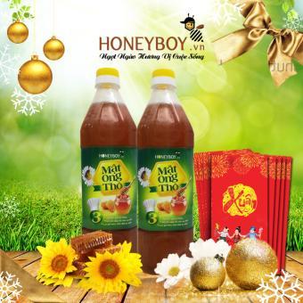 Bộ 2 Mật ong Thô HONEYBOY 1000ml
