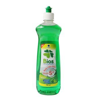 Nước Rửa Chén BIOS Đậm Đặc 5+ hương Chanh trà xanh 500ml