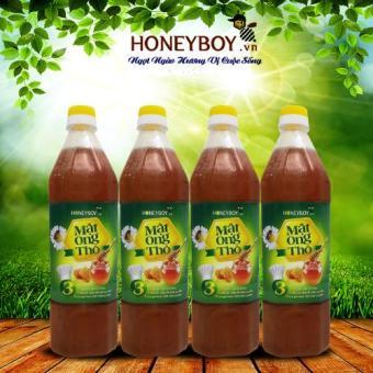Bộ 4 Mật ong Thô Honeyboy 1000ml
