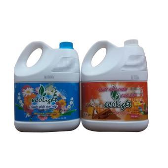 Nước giặt, nước rửa chén đậm đặc Ecolight 3.6L