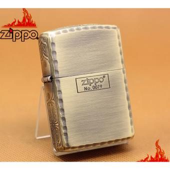 Zippo Mỹ viền hông hoa văn giới hạn Armor