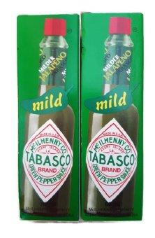 Bộ 2 Chai Sốt Tiêu Xanh Tabasco Green Pepper Sauce 60Ml