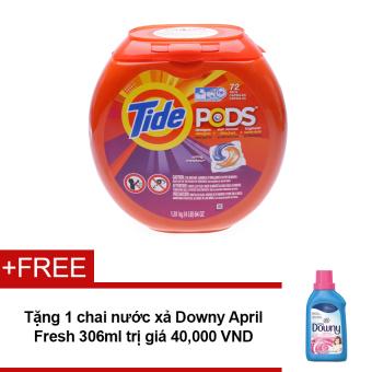 Nước giặt Tide PODS Spring Meadow 1.81kg + Tặng nước xả Downy April Fresh 306ml