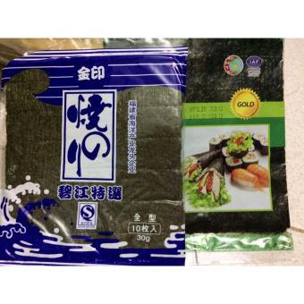 02 Gói Rong Biển Cuộn Cơm Gimbab, Sushi Hàn Quốc Loại Đặc Biệt (10 lá x 1 gói)