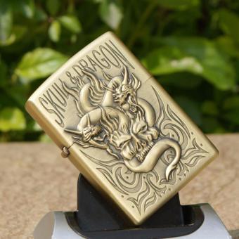 Bật lửa xăng Skull Dragon 1 (Vàng đồng)