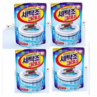 Bộ 4 gói bột tẩy vệ sinh lồng máy giặt 450g cao cấp