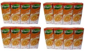 Bộ 4 lốc 4 hộp sữa chua uống vị cam YoMost 170ml