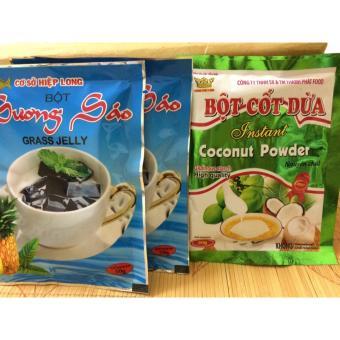 02 Gói Bột Sương Sáo Hiệp Long (50g/gói) + 01 gói Bột Cốt Dừa 50g