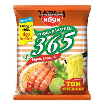 Thùng 30 Gói Mì Không Chiên 365 - Hương Vị Tôm Chua Cay (65gr)