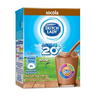 Thùng 48 hộp sữa tươi tiệt trùng Dutch Lady vị socola 110ml