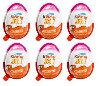 Bộ 6 Socola trứng Kinder Joy 20g (Hồng)