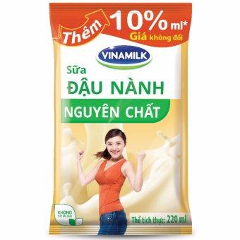 Thùng 48 Bịch Sữa đậu nành Vinamilk Nguyên chất 220ml