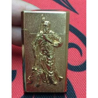 Bật lửa bắn tia điện khắc hình Quan Vân Trường (Vàng đồng)