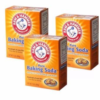 Bộ 3 hộp Bột nở Baking Soda đa công dụng Arm & Hammer 454g