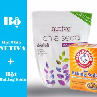 Bộ Sp Hạt Chia Mỹ Nutifood Nutiva Organic 907G Và Bột Baking Soda