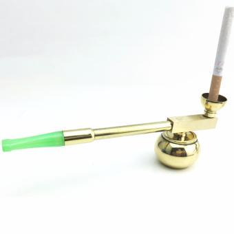 Tẩu lọc và hút thuốc lá, thuốc lào đa năng 108 bằng hợp kim (mạ màu vàng gold)