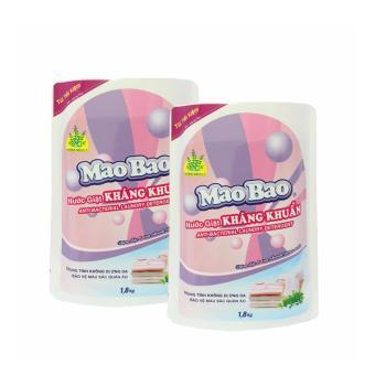 Bộ 2 Túi nước giặt kháng khuẩn Mao Bao 1800g