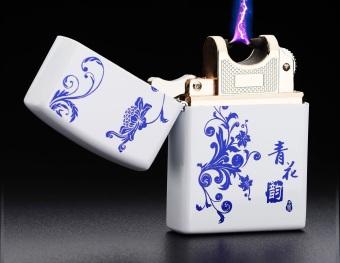 Bật lửa Xung Điện chống gió cao cấp hoạ tiết Tattoo F5