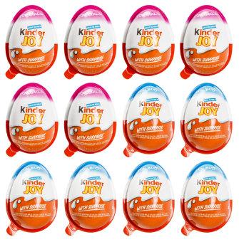Bộ 12 Socola trứng Kinder Joy 20g (Xanh hồng)
