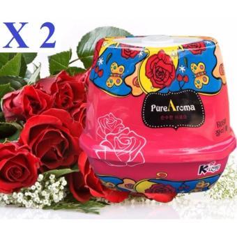 Bộ 2 sáp thơm phòng khử mùi PureAroma Korea ( Rose )