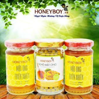 Bộ 2 Mật ong thiên nhiên 100ml và Nghệ Mật ong 80g