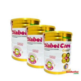 Bộ 3 hộp Sữa Nuti Diabetcare Gold 900g cho người bệnh tiểu đường