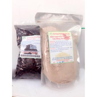 Bộ gạo lứt đen+ bột gạo lứt