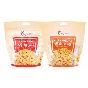 Bộ 1 gói nhân điều vị muối và 1 gói nhân điều vị mật ong 100g Vietnuts