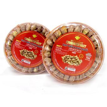 Bộ 2 hộp Hạt điều rang muối Golden Cashew 500g