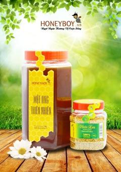 Bộ Mật ong thiên nhiên 1Kg và Phấn hoa thiên nhiên 100g