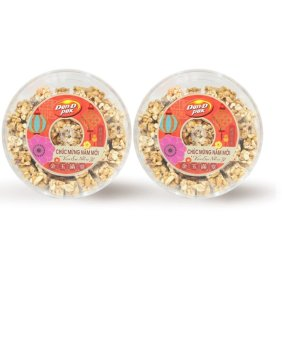 Bộ 2 hộp kẹo đậu phộng hạnh nhân giòn 600g