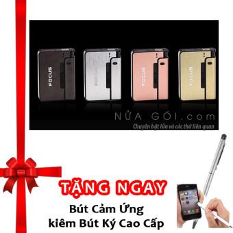 Hộp đựng thuốc lá và bật lửa YH001 F648 (Đen) + Tặng bút ký kiêm bút cảm ứng cho smartphone và tablet