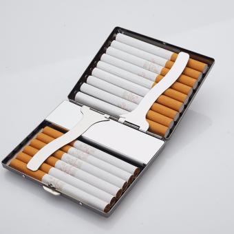 Hộp đựng thuốc lá classic 15 điếu kiêm bật lửa hồng ngoại kèm cáp sạc F133 (Vàng - mẫu ngẫu nhiên)