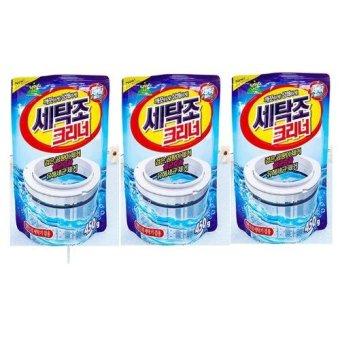 Bộ 3 gói bột tẩy vệ sinh lồng máy giặt 450g cao cấp Senviet