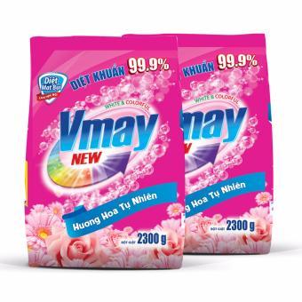 Bộ 2 gói bột giặt Vmay hương hoa 2.3kg