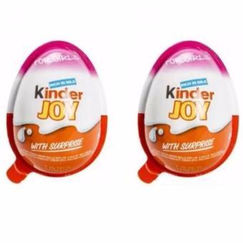 Bộ 2 socola trứng kinder joy cho bé gái (Hồng)