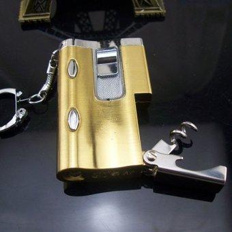 Bật lửa khò đa năng kiêm soi tiền giả và đèn pin F536 (vàng)